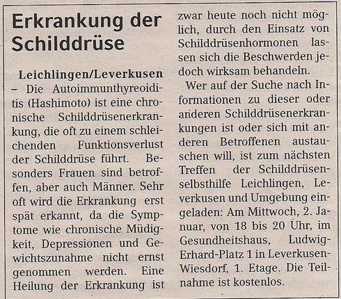 Quelle: Wochenende/Lokale Information , 29.12.2012