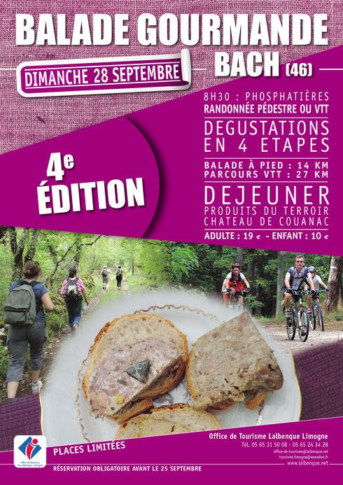 balade gourmande bach 46 dans le Lot sur les causse du Quercy proche de Toulouse à 1 heure environ