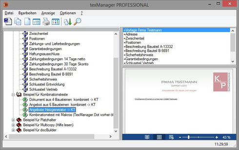 Angebote Texmanager