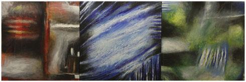"""Triptychon """"Teneriffa"""" 2007, AC/LW 150x50"""