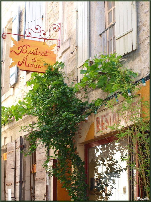 """Restaurant très chic """"Bistrot de Marie"""" dans une ruelle à Saint Rémy de Provence, Alpilles (13)"""