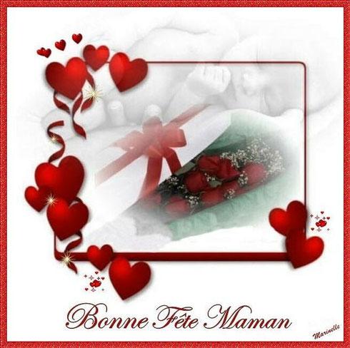 Fêtes des Mères : coeurs, roses et bébé