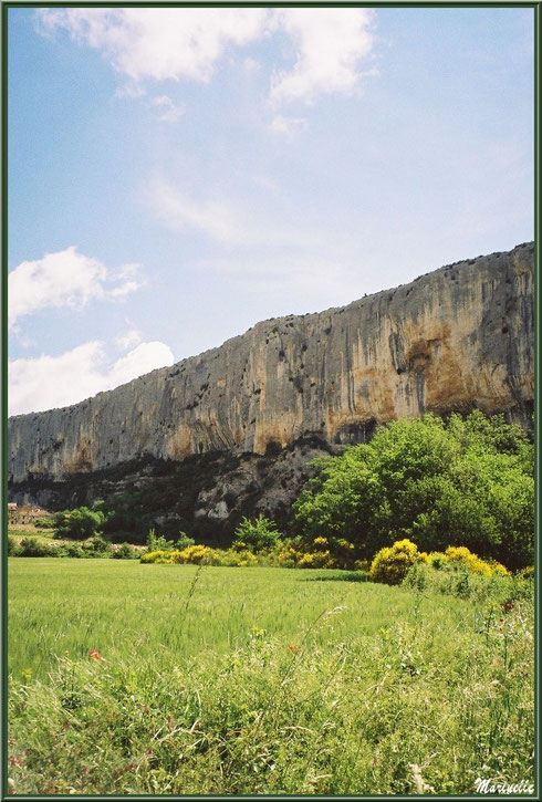 La Falaise de la Madeleine surpomblant le village de Lioux, Lubéron (84)