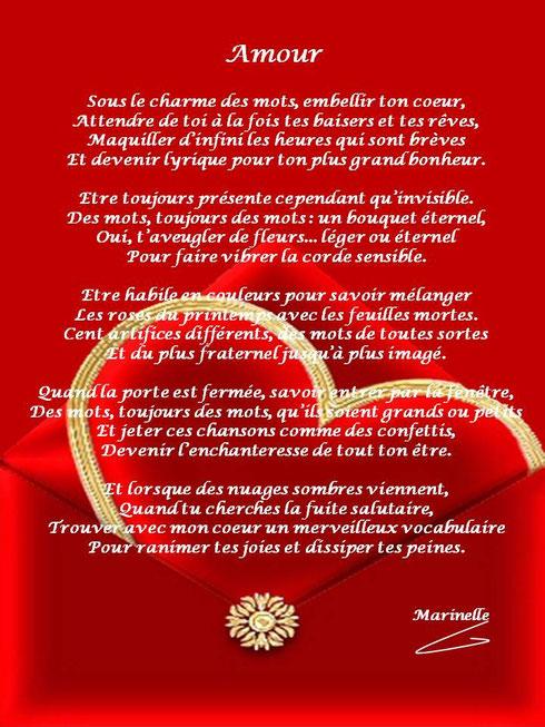 Saint Valentin, poème de Marinelle