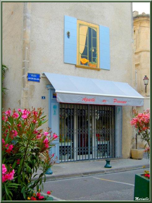 """Boutique et sa fenêtre """"trompe l'oeil"""" dans une ruelle à Saint Rémy de Provence, Alpilles (13)"""