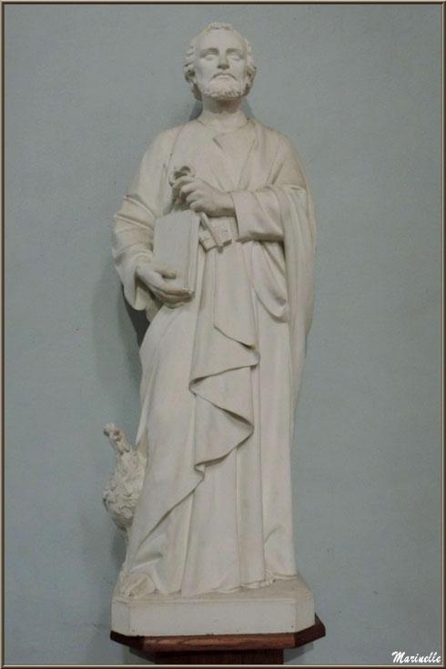 L'église Saint Pierre de Laruns, Vallée d'Ossau (64) : statue de Saint Pierre