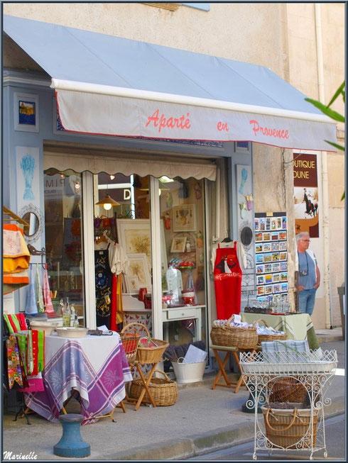 Devanture commerçante dans une ruelle centre ville à Saint Rémy de Provence, Alpilles (13)