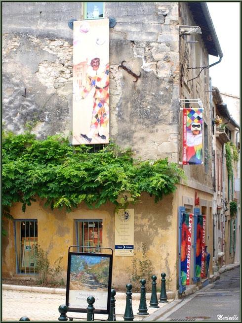 Une des nombreuses galeries d'art dans le centre ville à Saint Rémy de Provence, Alpilles (13)