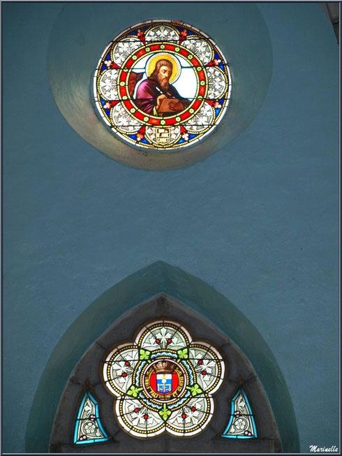 L'église Saint Pierre de Laruns, Vallée d'Ossau (64) : vitraux