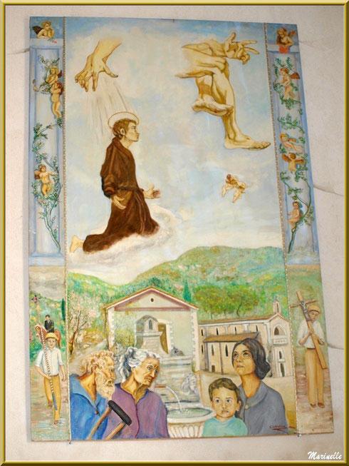 Tableau à l'entrée de l'église de l'Ermitage Saint Gens, village de Le Beaucet, Lubéron (84)