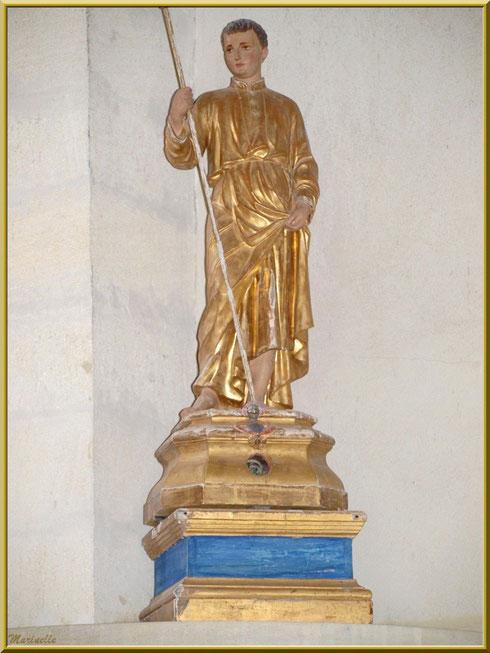 Statue de Saint Gens dans l'église de l'Ermitage Saint Gens, village de Le Beaucet, Lubéron (84)
