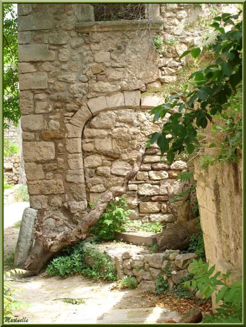 Bâtisse abandonnée dans le village d'Oppède-le-Vieux, Lubéron (84)