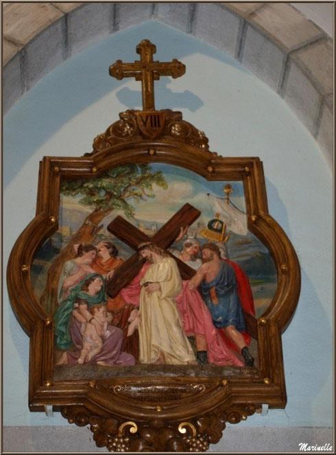 L'église Saint Pierre de Laruns, Vallée d'Ossau (64) : un tableau de Chemin de Croix