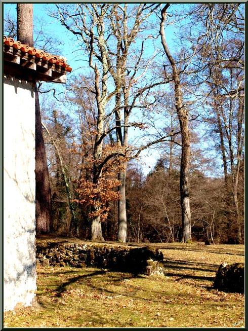L'airail vu d'un côté de la chapelle Saint-Roch à Saugnacq-et-Muret (40)