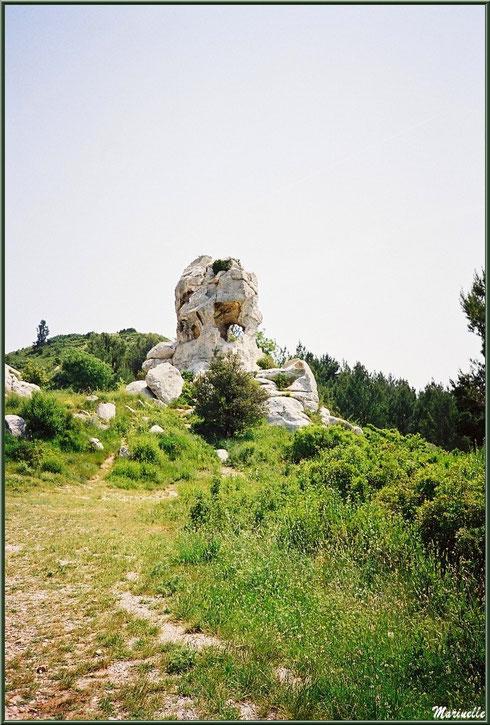 Le Val d'Enfer avec ses rochers aux formes étranges et fantastiques, Baux-de-Provence, Alpille (13)