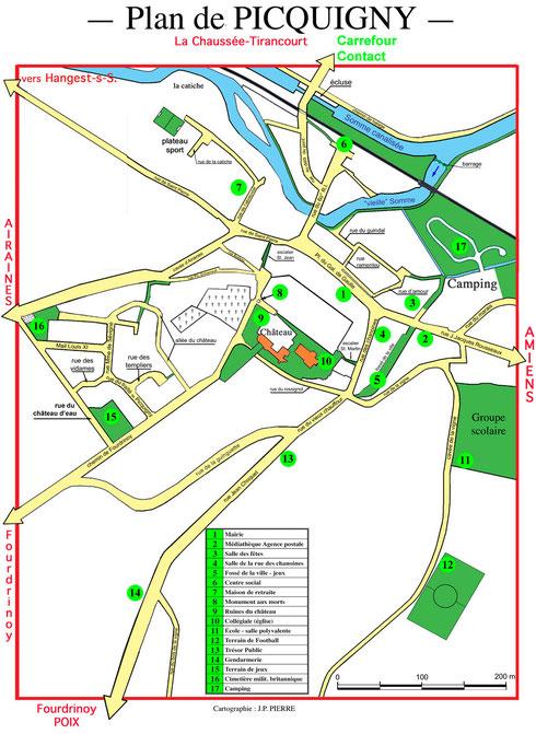 Plan de Picquigny points d'intérêt