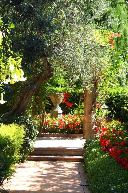 Bild:im spanischen Garten des Musée Ephrussi de Rothschild