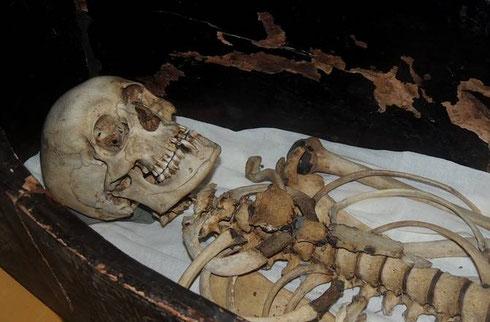 La momie, réduite à un squelette, de Qenamun