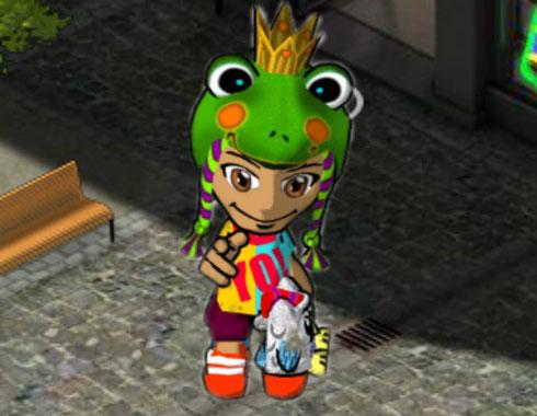 Ich mit meine Frosch-Mütze. ;)