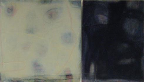 Winter, Tag und Nacht Dyptichon 80 cm x 80 cm -80 cm x 60 cm