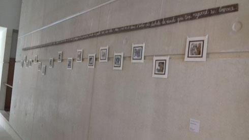 Installation de Véronique Arnault sur un poème d'Hervé Martin