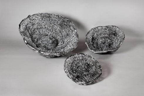 3 Anemonen, Ø 90, 65, 50 cm, Aluminium, 2011