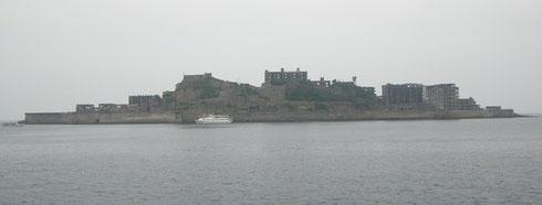世界遺産の軍艦島です。