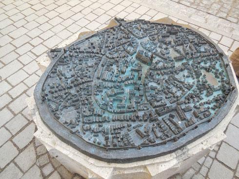 In Nördlingen steht dieser Stadtplan.
