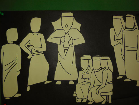 Auch der Hohepriester klagt Jesus an. Er zerreißt sein Kleid.