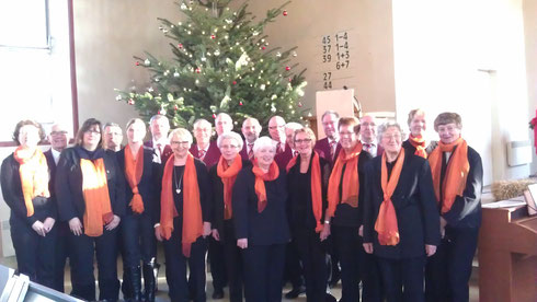 Der Gesangverein Weihnachten 2014 in der Erlöserkirche Krankenhagen