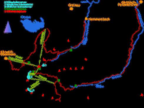 Schematische Darstellung der Zugspitz-Umgebung (wikipedia by Kauk0r (Own work))