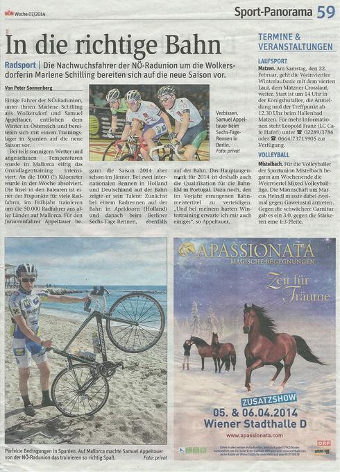 Artikel NÖN Mistelbach Woche 7 11.02.2014