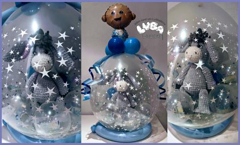 Latexballon luftgefüllt mit Geldkugeln zur Geburt Ballon Bamberg