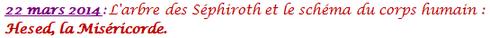 L'arbre des Séphiroth en lien avec le symbolisme du corps humain