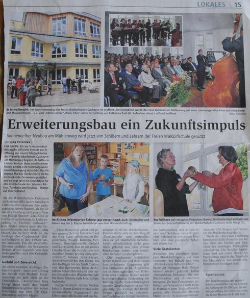 Cuxhavener Nachrichten, 23.06.2014, S.15