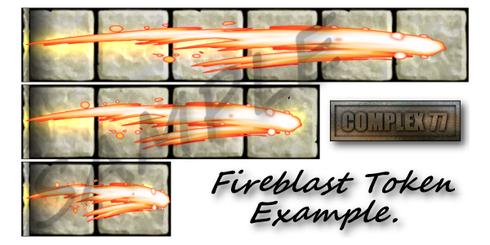 Couloirs avec flammes
