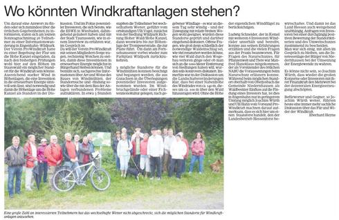 Wald- und Informationswanderung Engenhahn: Wo könnten Windräder stehen?