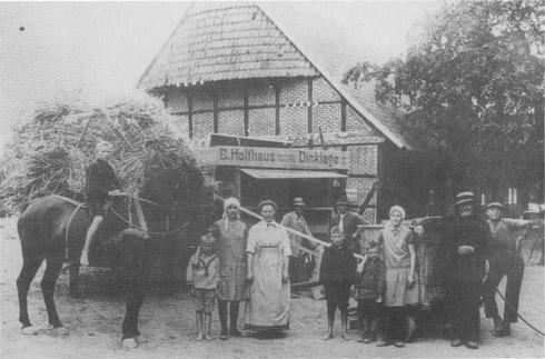 Dreschen des Getreides um 1920