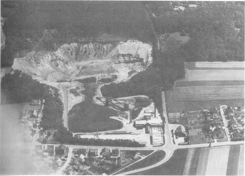 Kalksandsteinwerk/Luftbild 1975
