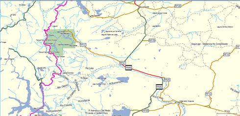 mapa del P.N.P.M