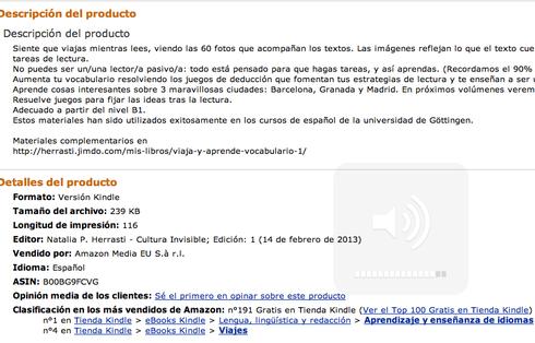 Posición 1 en el Ranking de Amazon.es, Aprendizaje de idiomas.