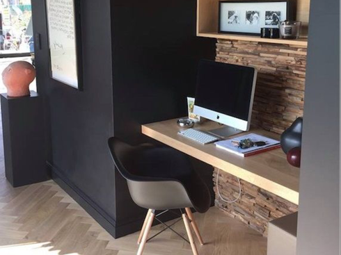 décoration bureau, bureau dans petit espace, inspiration bureau