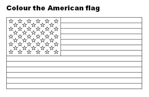 Colour the American flag