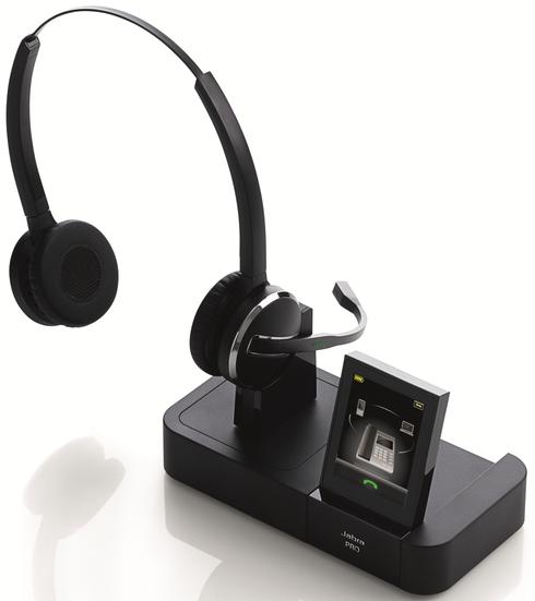 Jabra PRO 9465 Duo: Schnurloses DECT-Headset mit Softphone-Unterstützung und Bluetooth Schnittstelle