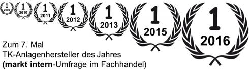 Auerswald: Zum 7. Mal TK-Anlagenhersteller des Jahres