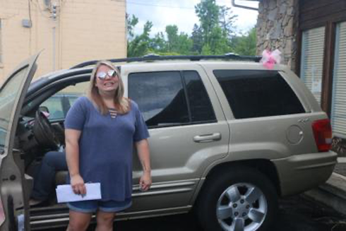 DONATION — Marissa Early, a graduate of LifeWorks Ministry receives an anonymous car donation.