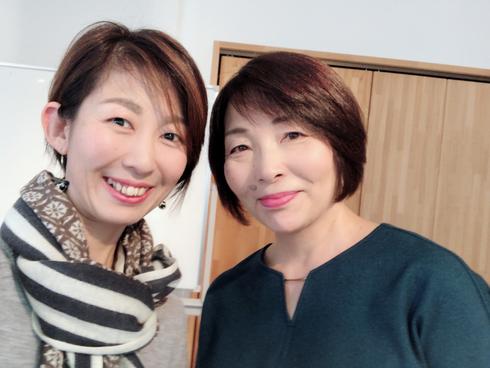 細田さんと。とってもあったかくて素敵な女性でした!!一気に大好きに^^