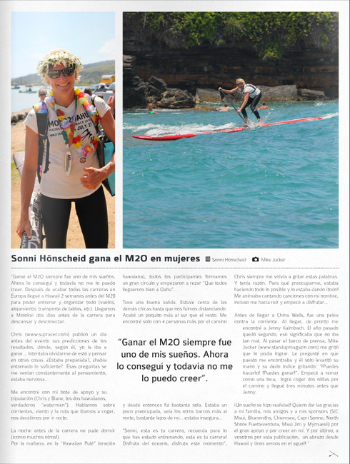 Sonni Hönscheid article in Suping Magazine