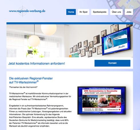 Homepage, www.regionale-werbung.de