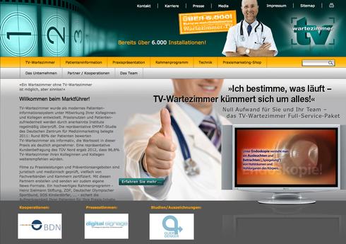 Homepage von TV-Wartezimmer